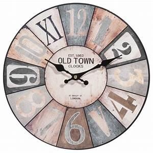 Horloge En Bois D 34 Cm COSY Maisons Du Monde