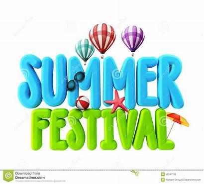 Festival Clip Summer Clipart Word Festivals Title