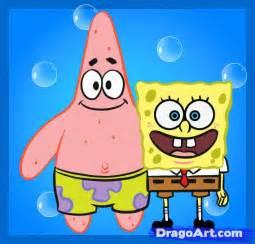 draw spongebob and patrit how to draw spongebob and