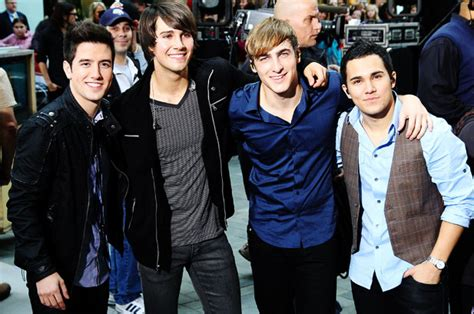 It focuses on the hollywood misadventures of four hockey players from duluth, minnesota, kendall knight, james diamond, carlos garcia, and logan mitchell, after they are selected to form a boy band by fictional mega. Big Time Rush (group) - Wikipedia
