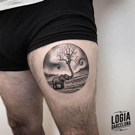 tatuajes redondos  circulares logia tattoo barcelona