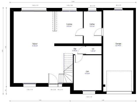 chambre individuelle plan de maison avec mezzanine 8 plan maison