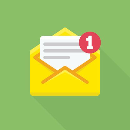 concept  email notification icon stock illustration