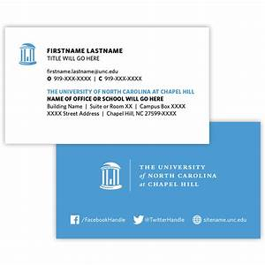 Business cards and stationery campus enterprises for Unc business cards