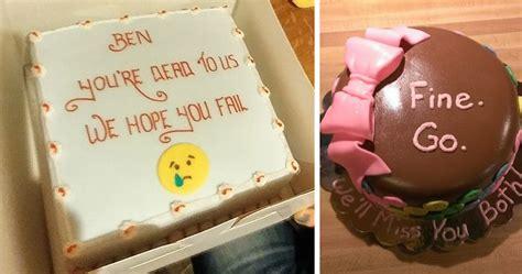 hilarious farewell cakes  employees