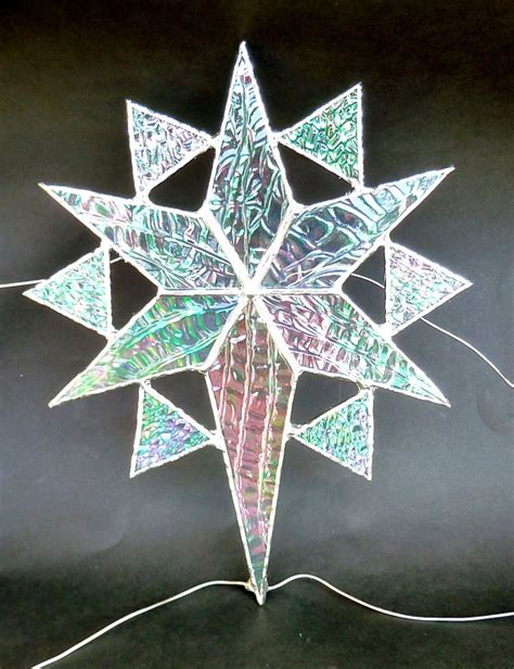 stained glass star christmas tree topper 1