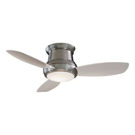 flush ceiling fan with light minka aire f518 44 in concept ii flush mount ceiling fan