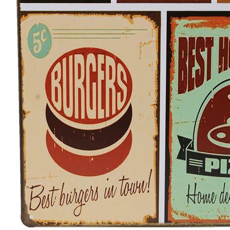 plaque metal cuisine food tin sign vintage retro metal plaque poster bar home