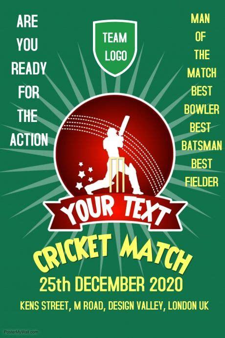 customizable design templates  cricket postermywall