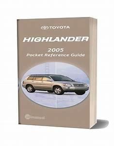 Toyota Highlander 2005 Pocket Reference Guide