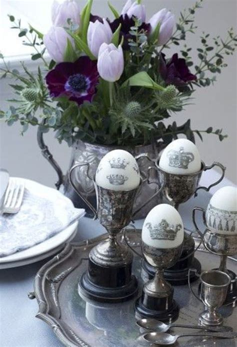 inspiring easter decor  vintage touches home