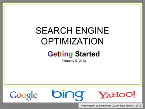 Organic Search Engine Optimisation - organic search engine optimization 2013