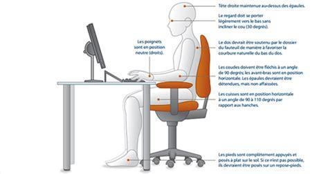hauteur bureau ergonomie ergonomie la bonne posture devant pc plusieurs