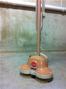 vintage hoover 5130 floor polisher buffer scrubber retro w brushes pads works ebay