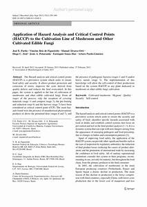 Pdf  Application Of Hazard Analysis And Critical Control