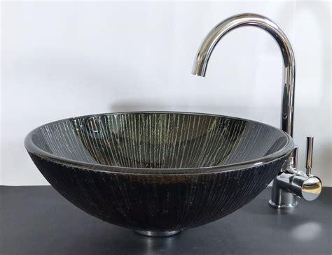 glas waschbecken rund nero badshop aufsatz glas waschbecken rund schwarz braun quot lava quot kaufen