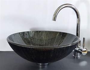 Waschbecken Glas Rund : nero badshop aufsatz glas waschbecken rund schwarz braun lava online kaufen ~ Markanthonyermac.com Haus und Dekorationen