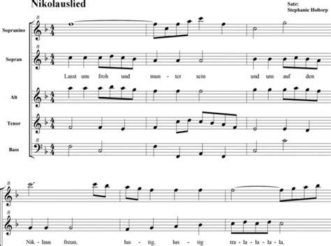 Nikolauslied, Lasst Uns Froh Und Munter Sein