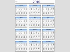Free 2010 Calendar Download and Print Year 2010 Calendar