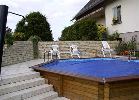 prix piscine bois enterree le tas d id 233 e de piscine semi enterr 233 e