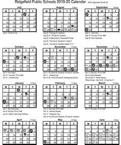 ridgefield public schools calendars school years