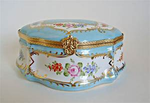 Limoges Very Large Trinket Jewelry Box Hand Painted Peint A La Main By Treasurecoveally On Etsy