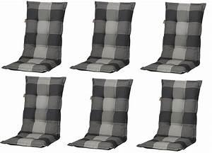 Auflagen Für Gartenstühle Hochlehner : 6x c184 hochlehner gartenstuhl auflagen 8cm grau kariert ~ Watch28wear.com Haus und Dekorationen