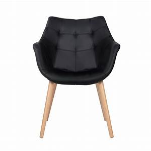 Chaise Scandinave Simili Cuir : chaise anders noire zuiver optez pour nos chaises en ~ Teatrodelosmanantiales.com Idées de Décoration