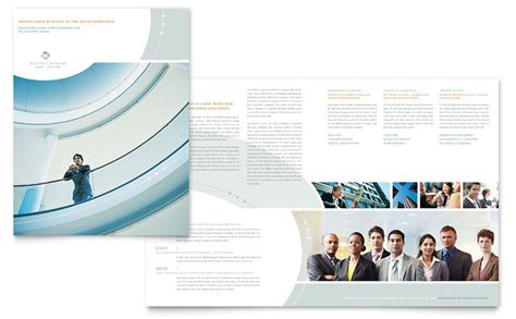 business consulting brochure template word publisher