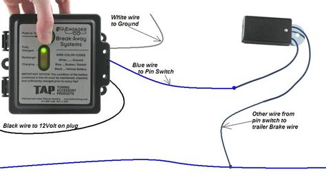 tap engager trailer away w led brake battery switch