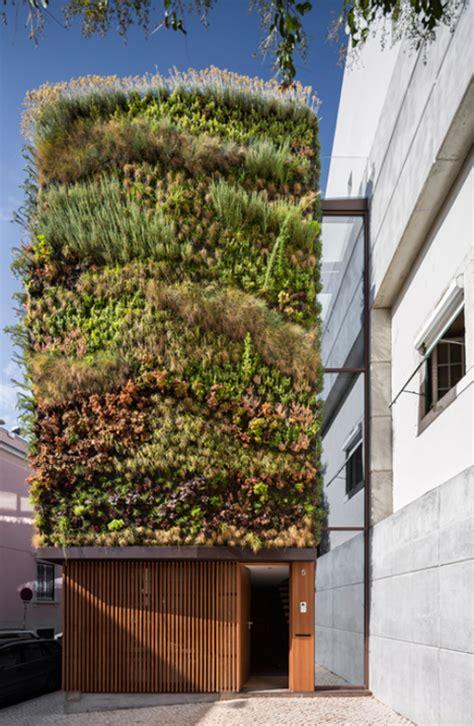 Vertical Garden Facade by Vertical Garden Home Facade Covered In 25 Kinds Of Plants