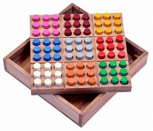 Klassische Brettspiele Aus Holz : farb sudoku steckspiel denkspiel knobelspiel geduldspiel brettspiel aus holz mit ~ Markanthonyermac.com Haus und Dekorationen