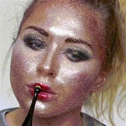Face Glitter Makeup Using Beauty Middle Glittery
