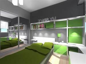 chambre enfant design verte With chambre d enfant design