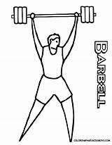 Coloring Sports Pages Colouring Printables Easy Lifting Weights Sport Cartoon Drawing Cliparts Weight Boys Barbell Lifter Barney Weightlifter Athletes Clipart sketch template