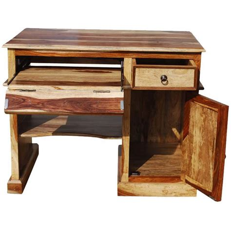 Small Wood Desk by Solid Wood Computer Desk For Small Space