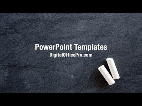 Blackboard Powerpoint Template Blackboard And Chalk