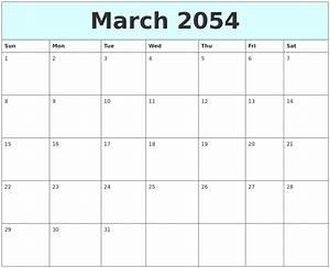 July 2054 Blank Calendar Template