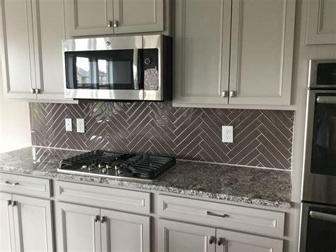 Kitchen Tile Backsplash Patterns by Color Wave 2x12 Glass Tile In Herringbone Pattern
