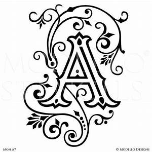 letter a peel and stick custom stencils for diy painted With letter wall stencils for painting
