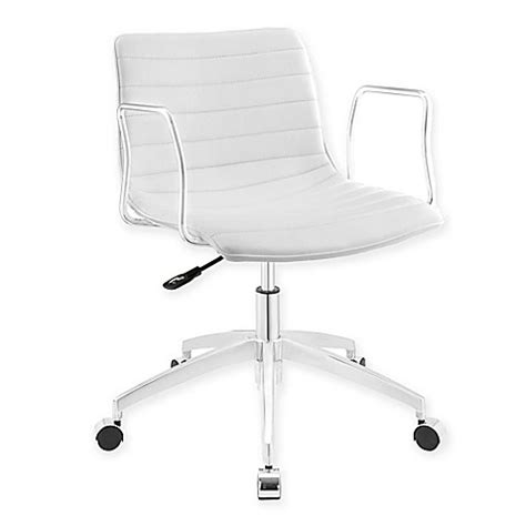 bed bath and beyond desk chair buy modway celerity adjustable office chair in white from