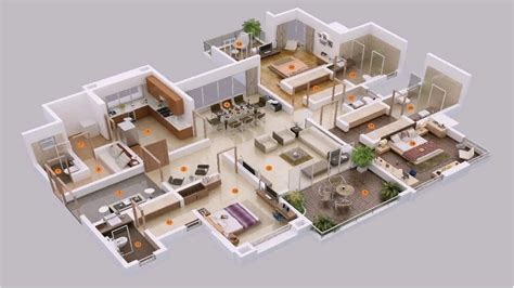 House Plans With Big Bedrooms by Marvelous 5 Bedroom House Plans 3d 5 Bedroom House Plans