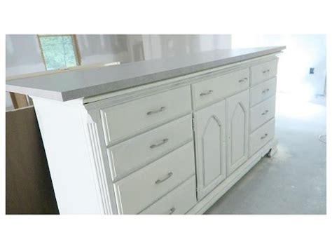 kitchen island made from dresser diy dresser kitchen island basement tour 9411