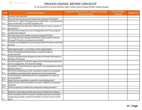 process change review checklist