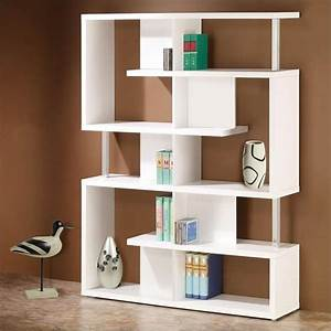 Coaster, Modern, Cube, Bookcase, In, White