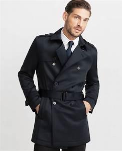 Trench Coat Homme Long : trench noir homme ~ Nature-et-papiers.com Idées de Décoration