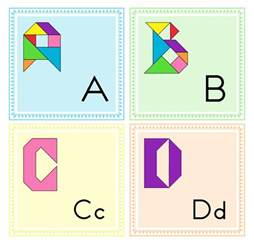 Printable Tangram Letters of the Alphabet