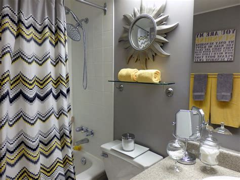 Grey and Yellow Bathroom   Contemporary   Bathroom