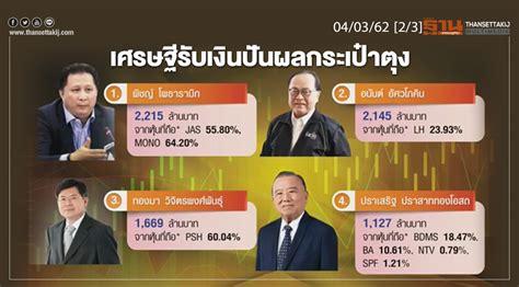 ชั่วโมงฐานเศรษฐกิจ 04/03/62 : 9 เศรษฐีรับเงินปันผลกระเป๋าตุง
