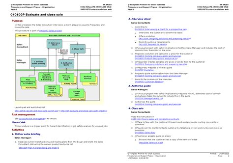 The Q-template™ For Standards-compliant Intranet Procedure
